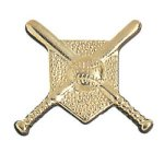 Crossed Bats Chenille Pin Baseball Trophy Awards