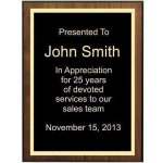 WALNUT VENEER Corporate Plaques