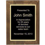 Two Step Solid Walnut Plaque Corporate Plaques