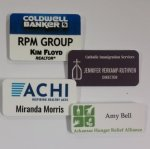 Unisub Matte Finish Plastic Name Badge Name Badges | Plates