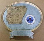 Arkansas Oval Resin with Disc Holder Plaques