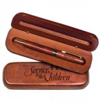 Rosewood Ballpoint Pen with Gift Case Quick Turnaround