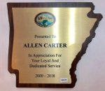 Arkansas Plaque Quick Turnaround
