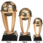 Soccer Tower Resin Soccer Trophy Awards