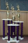 3 POST SERIES TROPHIES Trophies   Traditional